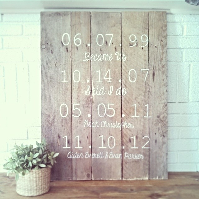 Diy Wood Pallet Important Dates Or Best Days Of Our Lives Sign
